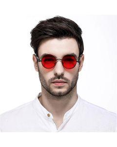 CostaRica Red Round Pulse Sunglasses