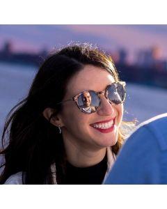CostaRica Brown Ladies rectangular Sunglasses