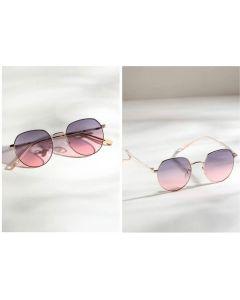 CostaRica Pink Girls Stylish Round Sunglasses