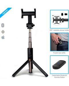 Crypto Bluetooth Selfie Stick Black 2 in 1 Selfie Stick and Monopod