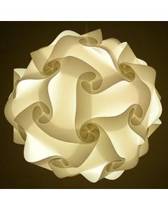 Diwali Puzzle Ball Decorative Lamp Kandil for Diwali Home Balcony Decoration (White)