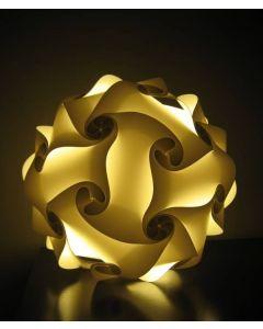 Diwali Puzzle Ball Decorative Lamp Kandil for Diwali Home Balcony Decoration (Yellow)