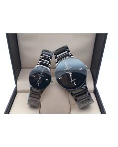 IIK Collection Black chain Analogue Black Dial Combo Couple watches men's  and ladies Watches