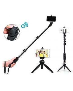Crypto 2 In 1 Adjustable Selfie Stick Monopod And Mini Tripod