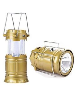 Rechargeable Camping Light 6 LEDs Collapsible Solar Camping Lantern Tent Lights for Outdoor Camping Hiking
