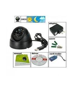 Virat CCTV 24 IR Night Vision Motion Detection Camera DVR with Memory Card Slot Recording (USB),Black