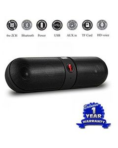 BT Bluetooth Speaker Capsule Stereo Pill Speaker With AUX Input