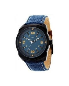 sylys Trendy Analog Black Dial Blue Leather Strap  Men Watch  With 1 Year Warranty