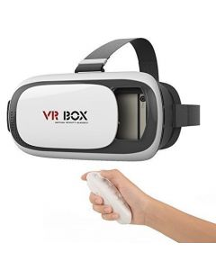 Crypto Google Cardboard VR Box 3D Glasses With Bluetooth Wireless Remote Controller