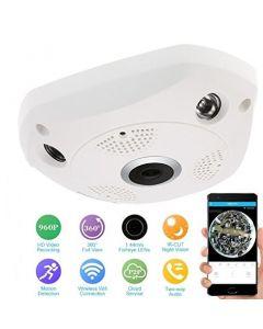 360° Panoramic 960p HD Wireless Wifi IP CCTV Camera With SD card slot