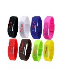 Sin Digital Multi-Colour Band Watches