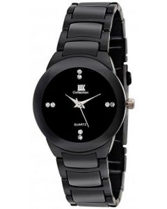 IIK Collection Black Chain Analogue Black Dial Girls's Watch-552