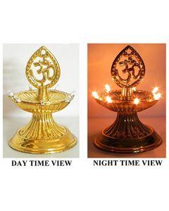 Virat Om Diya deepak jyot / jyoti lights Diwali Electric Gold Diya/Deepak Rice Light Bulb Lamp for Pooja/Puja 1 Floor With 3 Months Warranty