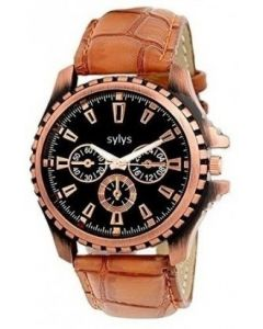 sylys Trendy Analog Golden Dial Men's Watch i-MTRIX With 1 Year Warranty