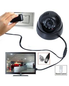 CCTV 24 IR Night Vision Motion Detection Dome Camera TV Out DVR with Memory Card Slot Recording USB