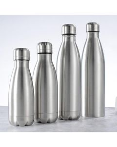 Duo New Quality Premium Classic Insulated Hot & Cold Water Bottle 500 ml Flask  (Pack of 1, Silver, Steel)