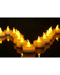 Virat Flameless Orange Color Pack of 24  LED Tealights Birthday/ Festival / Anniversary / All purpose 6 MultiColor (batteries included) High Quality Long Lasting