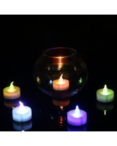 Virat Flameless 6 MultiColor auto changing LED Tealights Birthday/ Festival / Anniversary / All purpose (batteries included) (Pack of 6) High Quality Long Lasting