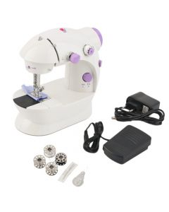 Virat 4 In 1 compact Mini Sewing Machine with foot pedal bobbin and adapter With 6 Months Warranty