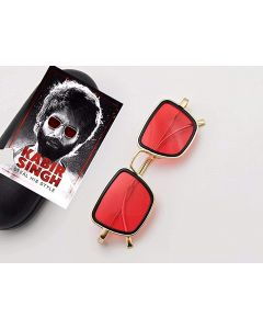 CostaRica Red Men's Square Metal Frame Sunglasses - Kabir Singh