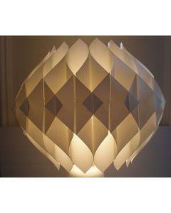 Diwali Diamond Shape Puzzle Ball Decorative Lamp Kandil for Diwali Home Balcony Decoration (White)