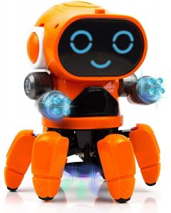 WMac Bot Robot Colorful Lights and Music | All Direction Movement | Dancing Robot Toys for Boys and Girls | Multi Color