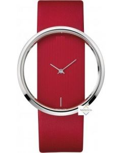 Virat Special Edition Red Starp Analogue Silver Dial Women's & Girl's Watch- T-04
