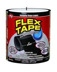 Indishop rubberized waterproof flex instantly stops leaks sealer tape (4 inch x 5 feet, black) (flex tape)
