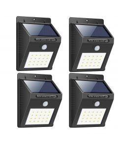 Bigsavings. Light-Solar Powered Cordless Outdoor Led Motion Sensor Path and Security Light - Pack of 4, Multicolor
