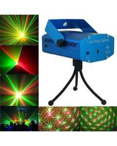 Virat Multi Pattern Sound Activated Laser MIni Disco Light Projector Stage Lighting For Party,Diwali Celebration