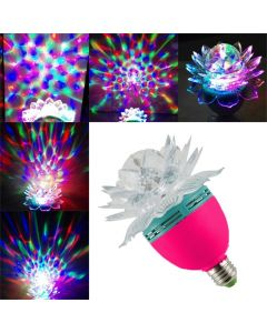 5W LED Crystal Lotus Magic Ball, Rotating Strobe, Multi Color For Disco Party, D.J Party,Club, Other Decorative Purpose