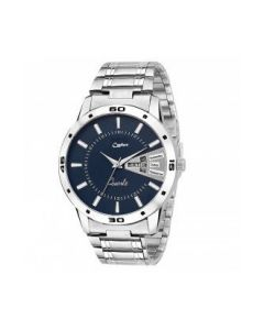 Cypher Analogue Silver chain Blue Dial Men's Watch- c507