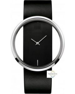 V  Special Edition Black Starp Analogue Silver Dial Women's & Girl's Watch- T-02