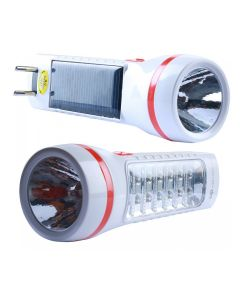 Solar Rechargeable Flashlight Torch With 14 LED Emergency Light - DP 9109