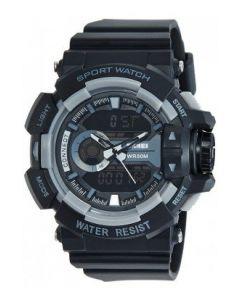 Skmei 1117 Black Analog-Digital Black Grey Dial Men's watch