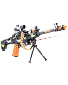 Nord 25 musical army style toy gun for kids with music, lights and laser light (Multi color)