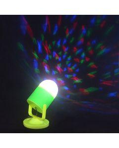 Virat LED Full Color 360 degree Rotating Crystal Lamp Bulb For Party Diwali New Year Dance and Disco with Stand