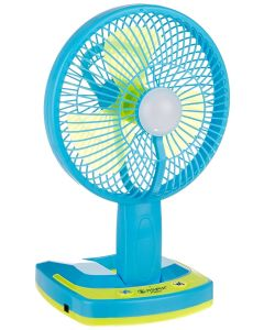 JY SUPER 5590 Portable Powerful Rechargeable Fan with 21SMD lights With 6 Month Warranty