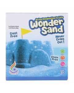 WMac Wonder Sand 500 Grams for Play. Smooth Sand for Kids (Blue 500 Grams), ONE Big Mould Inside (Without Tray)