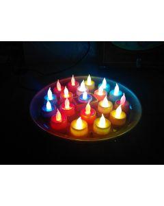 Virat Orange Color Led Diya Thali Lights Diya/Deep/Deepak For Pooja/Puja/Mandir Diwali Decoration in Plastic Body in With 3 Months Warranty