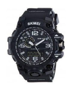 SKMEI 1155 Black Strap Analog-Digital Black white Dial Watch For Men SKM