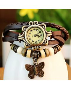 Sylys Butterfly Edition  Analogue Brwon Dial Girl's Watch- Zbw1