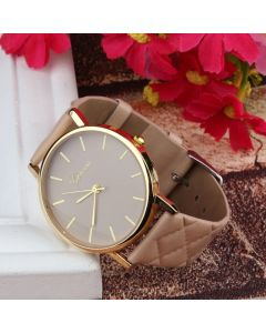 IIK Analog Brown Color Rose Gold Dial Girl's and Women's Watch