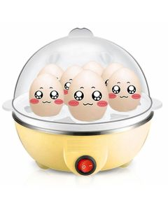 Money Plus MP Egg Boiler Electric Automatic Off 7 Egg Poacher for Steaming - (Multicolour)