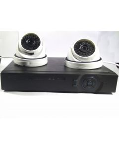 Virat HD CCTV Cameras (1MP) with 4Ch. HD DVR 2 USB 1 LAN Port Kit With All Accessories With 12 Months Warranty