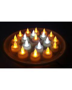 Virat Mix Color Led Diya Thali Lights Diya/Deep/Deepak For Pooja/Puja/Mandir Diwali Decoration in Plastic Body in With 3 Months Warranty (Default)