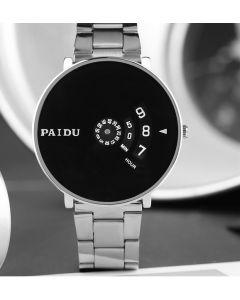 Cypher Paidu international Silver chain Analogue Black Dial Men's Watch