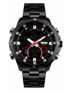 SKMEI 1146 Black Chain Casual Analog-Digital Black Dial Men's Watch