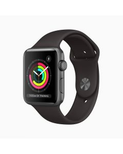 App Watch Series 3 GPS 42 mm Space Gray Aluminum Case with Black Sport Band T-55