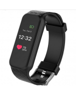 Fashion Sport Wristband OLED Color Touch Screen Smartphone Women Smart Watch